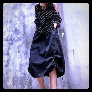 Black Lantern Style Midi Skirt